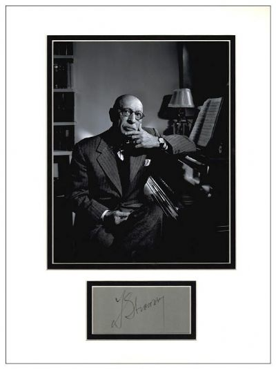 Igor Stravinsky Autograph Signed Display